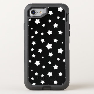 Black and white stars pattern OtterBox defender iPhone 8/7 case