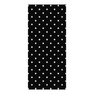 Black and White Stars Pattern. Full Color Rack Card