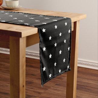 Black And White Stars Pattern Short Table Runner