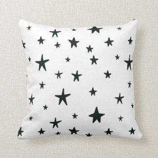 Black and White Stars Pillow