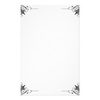 Black and White Stationery Paper