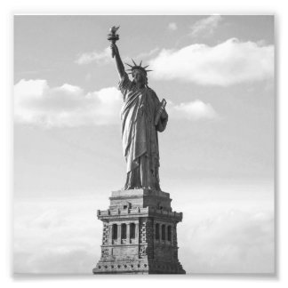 Black and White Statue of Liberty Photo Print