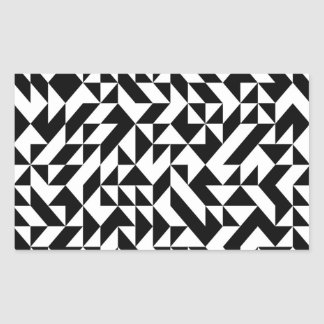 Black And White Rectangular Stickers