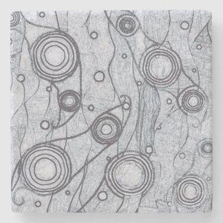 Black and White Stone Coaster