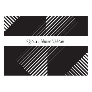 Black and White Striking Line Art Pack Of Chubby Business Cards