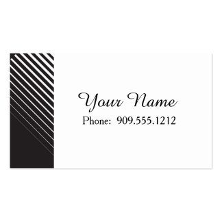 Black and White Striking Line Art Pack Of Standard Business Cards
