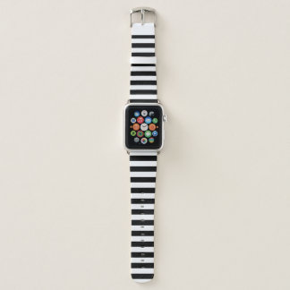 Black and White Stripe Apple Watch Band