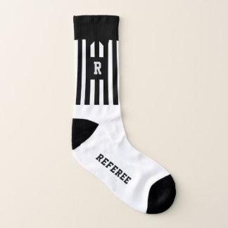 Black and White Stripe Football Referee Socks