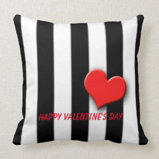 Black and White Stripe (large) Throw Pillow