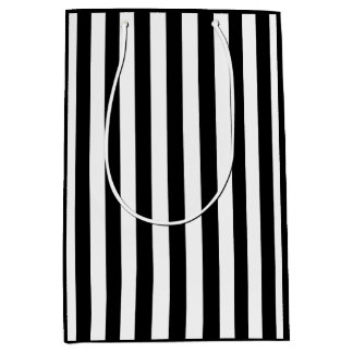Black and White Stripe Medium Gift Bag