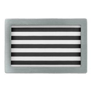 Black and White Stripe Pattern Belt Buckles