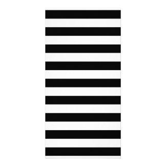 Black and White Stripe Pattern Card