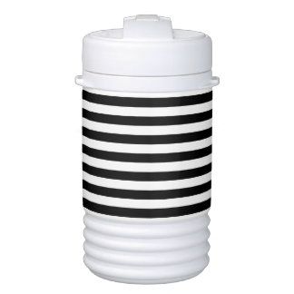 Black and White Stripe Pattern Cooler