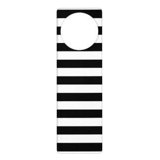 Black and White Stripe Pattern Door Hanger