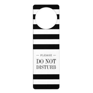Black and White Stripe Pattern Door Hanger