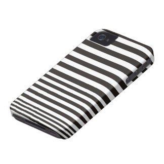Black and white stripe pattern ID iPhone 4 4S case iPhone 4 Covers