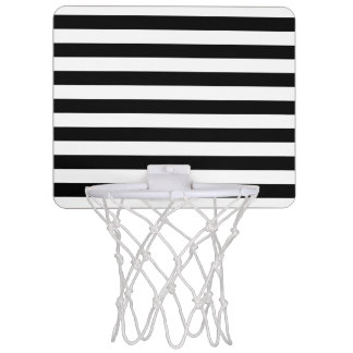 Black and White Stripe Pattern Mini Basketball Hoop