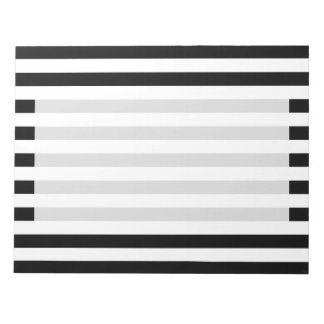 Black and White Stripe Pattern Notepad