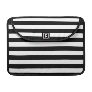 Black and White Stripe Pattern Sleeve For MacBook Pro