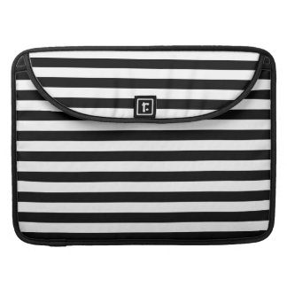 Black and White Stripe Pattern Sleeve For MacBooks