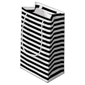 Black and White Stripe Pattern Small Gift Bag
