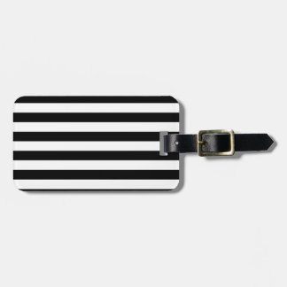 Black and White Stripe | Striped Design Luggage Tag