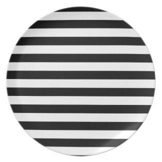 Black and White Stripe | Striped Design Plate
