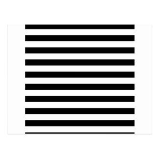 Black and White Stripe | Striped Design Postcard