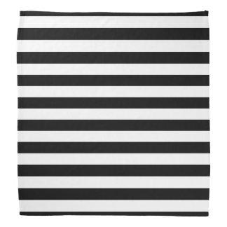 Black and White Striped Bandana