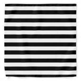Black and White Striped Bandanna