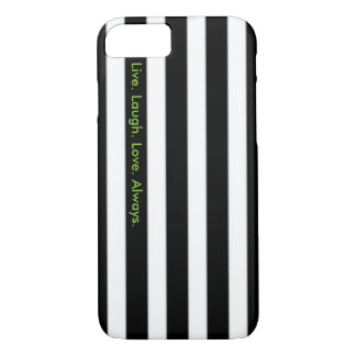 Black and White Striped Case w/Quote