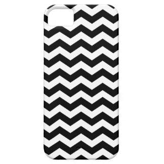 Black and White Striped Chevron Pattern iPhone 5 Case