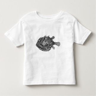 Black and White Striped Cowfish Toddler T-Shirt