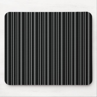 Black And White Striped Mouse Pad