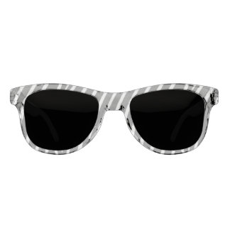 Black and White Striped Pattern Sunglasses