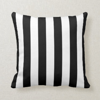 Black and White Striped Pillow