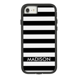 Black And White Stripes And Name Case-Mate Tough Extreme iPhone 8/7 Case