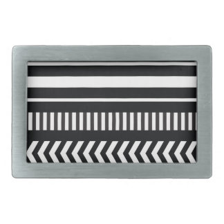Black and white  stripes belt buckles