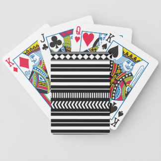 Black and white  stripes bicycle playing cards