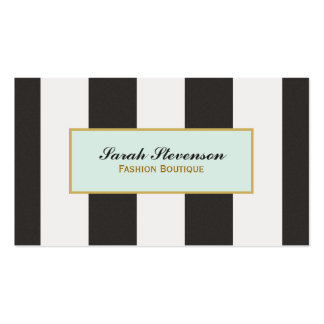 Black and White Stripes Boutique Business Card