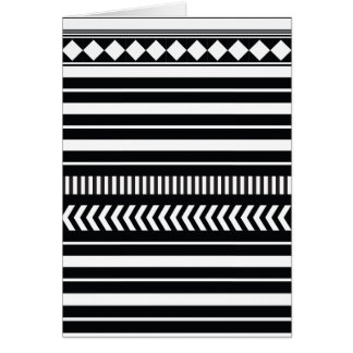 Black and white  stripes card