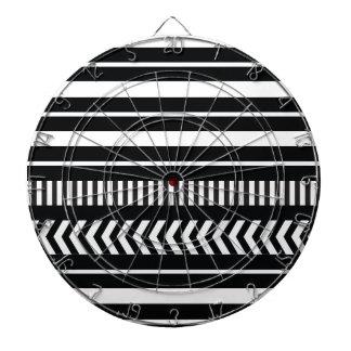 Black and white  stripes dartboard