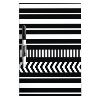 Black and white  stripes dry erase board