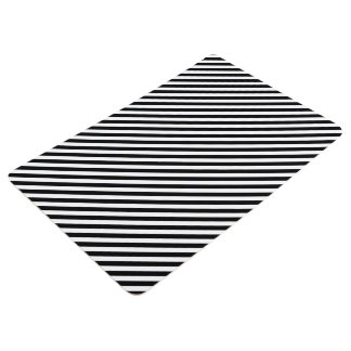 Black and White Stripes Floor Mat
