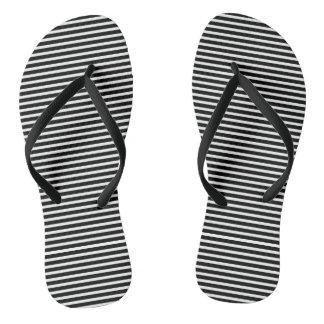 Black and White Stripes for Women Flip Flops