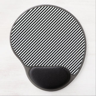 Black and White Stripes Gel Mouse Pad