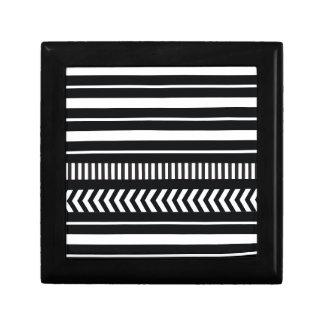 Black and white  stripes gift box