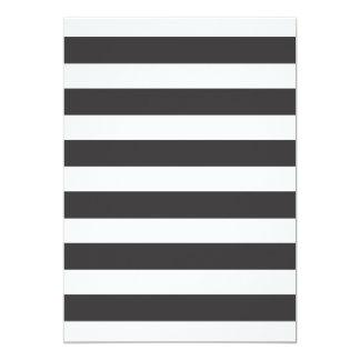 Black and White Stripes Invitation