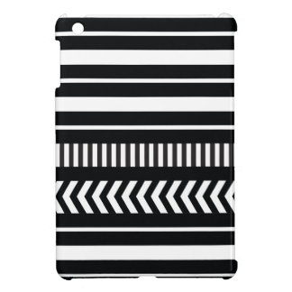 Black and white  stripes iPad mini case