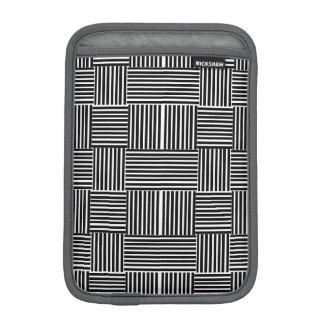 Black and White Stripes, iPad Rickshaw sleeve Sleeve For iPad Mini